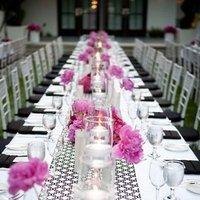 Reception, Flowers & Decor, black