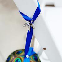Ceremony, Flowers & Decor, purple, blue, Peacock