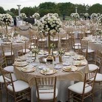 Reception, Flowers & Decor, gold