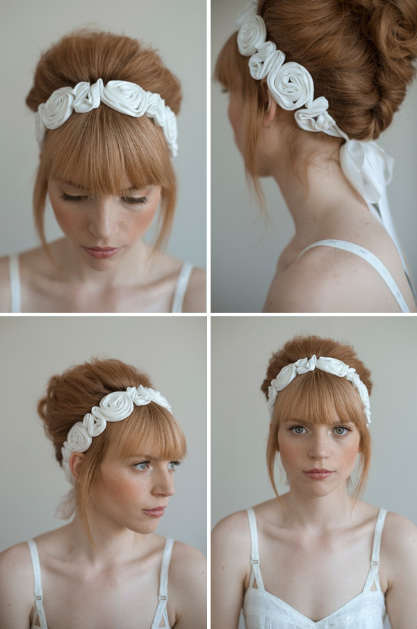 Beauty, Flowers & Decor, Jewelry, Wedding Dresses, Fashion, white, dress, Headbands, Flowers, Hair, Bridal, Rosette, Headband, Flower Wedding Dresses