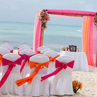 Ceremony, Flowers & Decor, orange, pink