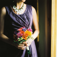 orange, purple, Bouquet, Bridesmaid, Colorful, Film, Sara jeremiah