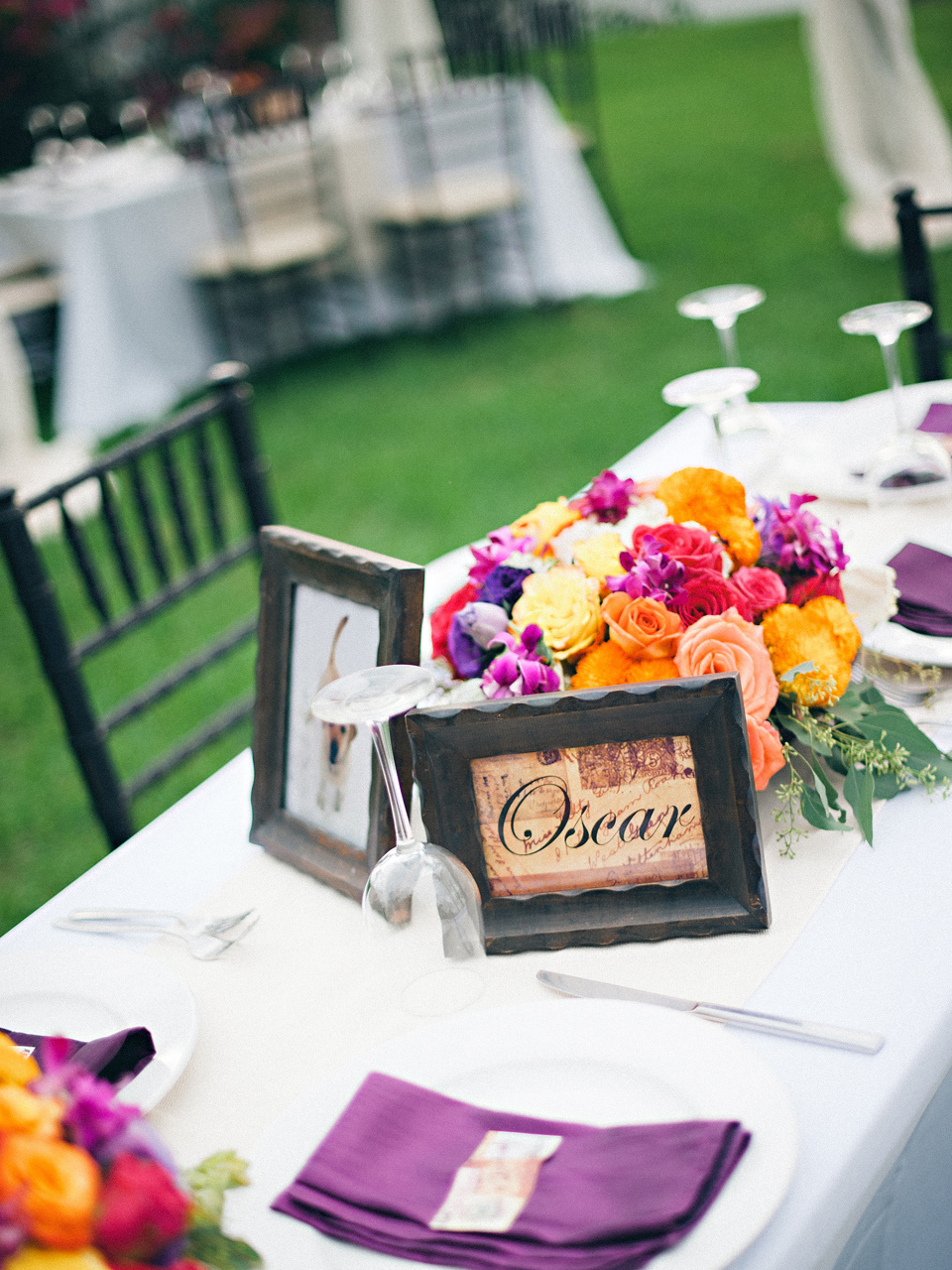Reception, Flowers & Decor, Destinations, orange, pink, purple, green, Flowers, Table, Destination, Colorful, Beige, Film, Frames, Décor, Sara jeremiah