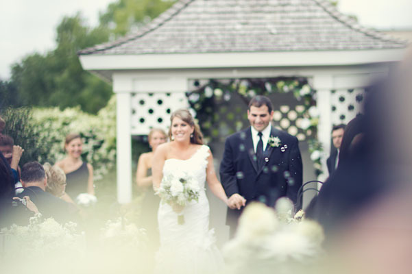 white, black, Bride, Groom, Gazebo, Aisle, Walk, Chessie pasquale