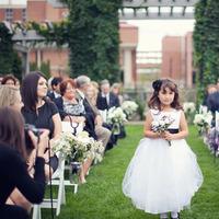 Flowers & Decor, white, black, Flower, Girl, Sash, Aisle, Chessie pasquale