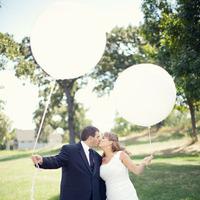 white, black, Bride, Groom, Couple, Balloons, Chessie pasquale