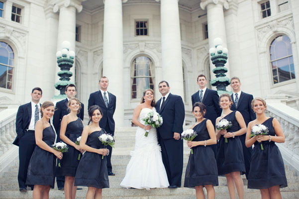white, black, Party, Bridal, Chessie pasquale