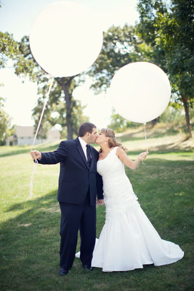 white, black, Bride, Groom, Couple, Balloons, Chessie pasquale