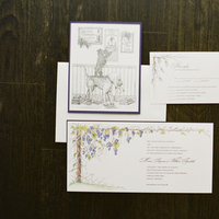 Flowers & Decor, purple, Classic, Vineyard, Rustic Wedding Invitations, Coast, East, Maria will
