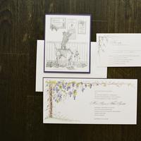 Flowers & Decor, purple, Classic, Vineyard, Rustic Wedding Invitations, Coast, East, Maria will