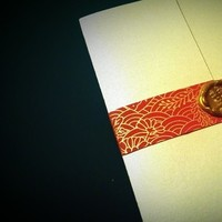 Stationery, red, gold, Invitations, Seal, Wax