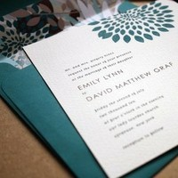 Stationery, green, Invitations