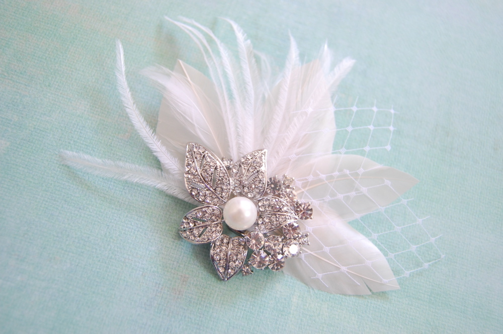 Beauty, Flowers & Decor, Feathers, Beach, Flower, Wedding, Hair, Lily, Me, Fascinator, Feather, Fascinate