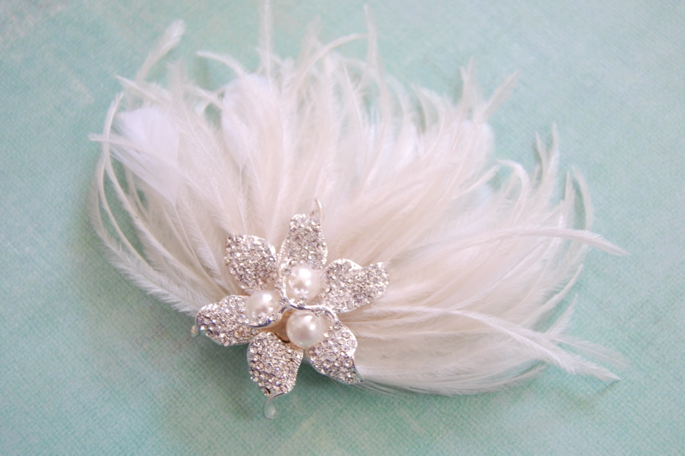Beauty, Flowers & Decor, Feathers, Beach, Flower, Wedding, Hair, Me, Fascinator, Feather, Fascinate