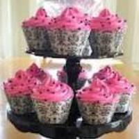 Cakes, white, pink, black, cake