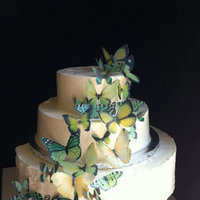 Cakes, green, cake, Butterfly