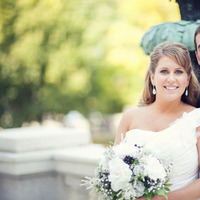 white, black, Bride, Bouquet, Groom, Chessie pasquale