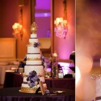 Cakes, purple, gold, cake