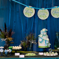 Cakes, blue, green, cake