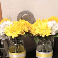 Reception, Flowers & Decor, white, yellow, Flowers