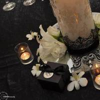 Reception, Flowers & Decor, white, black