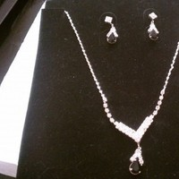 Jewelry, black, silver