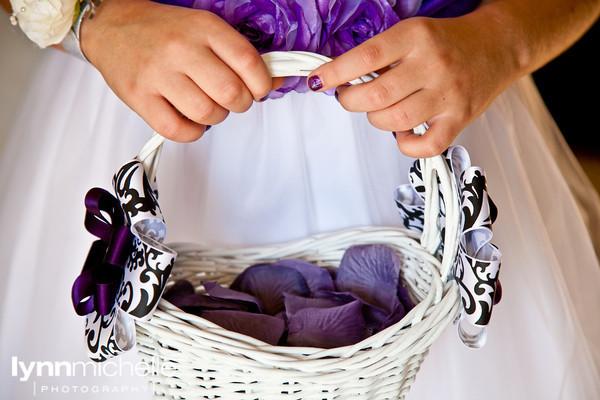 Ceremony, Flowers & Decor, Bridesmaids, Bridesmaids Dresses, Fashion, white, purple, black, silver, Ceremony Flowers, Bridesmaid Bouquets, Flowers, Flower, Girl, Basket, Flower Wedding Dresses