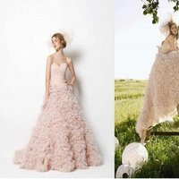Wedding Dresses, Fashion, pink, dress, Spring, Bride, Gown, Wedding, Palm, Watters, Spring Wedding Dresses