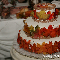 Reception, Flowers & Decor, Cakes, white, orange, red, brown, cake