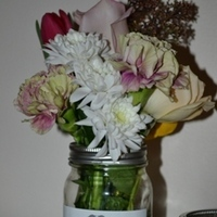 Reception, Flowers & Decor, Centerpieces, Flowers, Centerpiece, Labels, Jar, Mason
