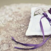 white, purple, Ribbon, Pillow, Sandra juan