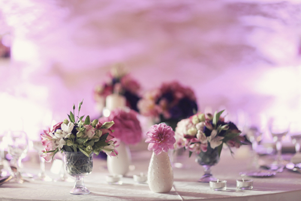 Reception, Flowers & Decor, white, purple, green, Centerpieces, Flowers, Centerpiece, Violet, Magenta, Sandra juan