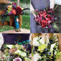 Flowers & Decor, Flowers, Inspiration board, Peacock