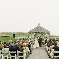 Ceremony, Flowers & Decor, Bride, Groom, Vows, Gazebo, Merryl marko, Audience