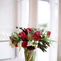 Flowers & Decor, Candles, Flowers, Arrangement, Fuchsia, Candlelight, Merryl marko