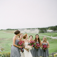 Bridesmaids, Bridesmaids Dresses, Fashion, green, Bride, Group, Fuchsia, Merryl marko