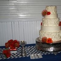 Reception, Flowers & Decor, white, blue, Modern, Table, Runner, Navy, Chevron