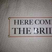 Ceremony, Flowers & Decor, white, orange, blue, Bride, Flower, Girl, Ring, Bearer, The, Sign, Comes, Here