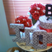 Reception, Flowers & Decor, white, red, black, Box, Card, Inspiration board