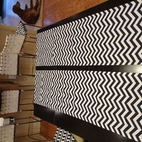 Reception, Flowers & Decor, white, blue, Modern, Table, Runner, Navy, Chevron