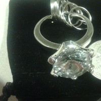 Favors & Gifts, silver, Favors, Stone, W, Clear, Keychain