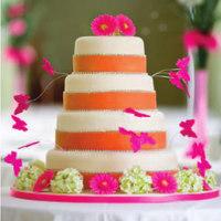 white, orange, pink