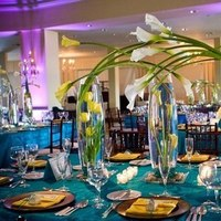 Reception, Flowers & Decor, green, And, Teal