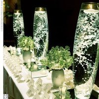 Reception, Flowers & Decor, white, Centerpieces, Centerpiece, Babys, Breath
