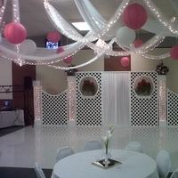 Reception, Flowers & Decor, Decor, pink, Lanterns, Backdrop, Ceiling