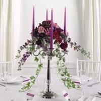 Reception, Flowers & Decor, purple, Flowers, Candelabra