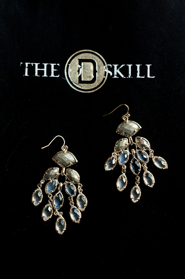 Jewelry, silver, Earrings, Crystal, Chandelier, Amanda john