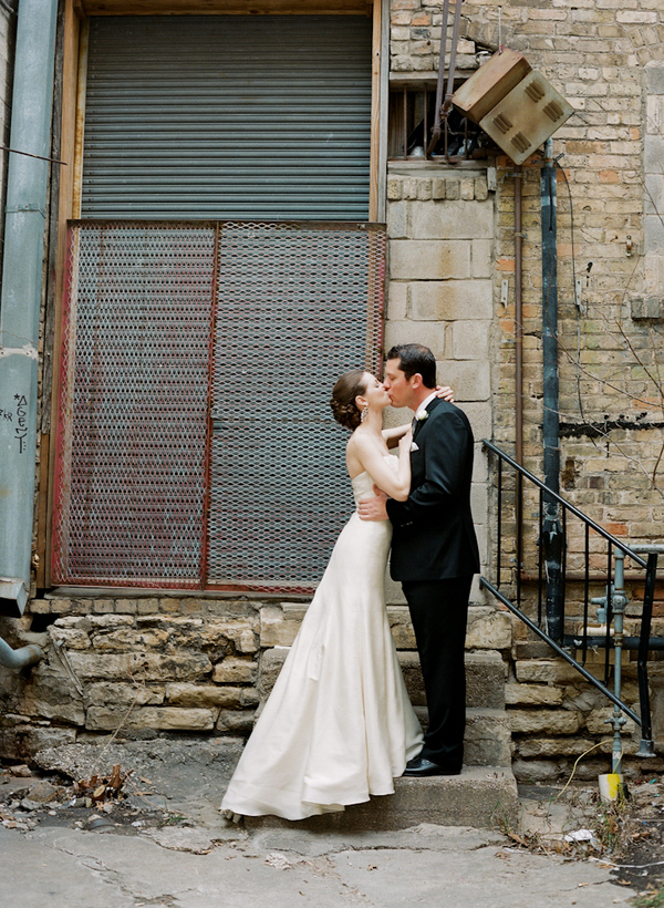 Photography, Bride, Groom, Building, Kissing, Architecture, Candlelight, Sophisticated, Amanda john