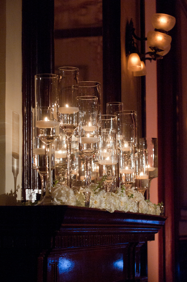 Registry, Lighting, Candles, Drinkware, Glasses, Mantle, Votives, Mirror, Candlelight, Sophisticated, Amanda john