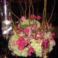 Reception, Flowers & Decor, white, yellow, orange, pink, red, green, Flowers